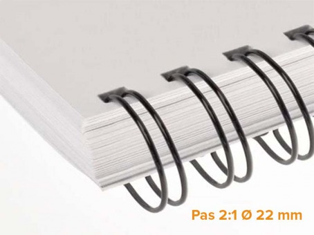 "RENZ - Wire Pack de 50 Ring Wire pas 2:1 diamètre Ø 22 mm (7/8"")"
