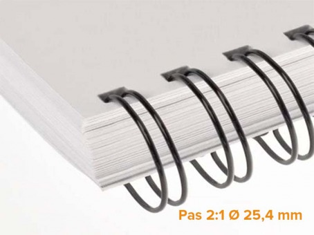 "RENZ - Wire Pack de 25 Ring Wire pas 2:1 diamètre Ø 25.4 mm (1"")"