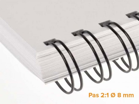 "RENZ - Wire Pack de 100 Ring Wire pas 2:1 diamètre Ø 8 mm (5/16"")"