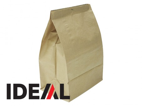 IDEAL - Lot de 5 sacs en papier Kraft jetables 80L
